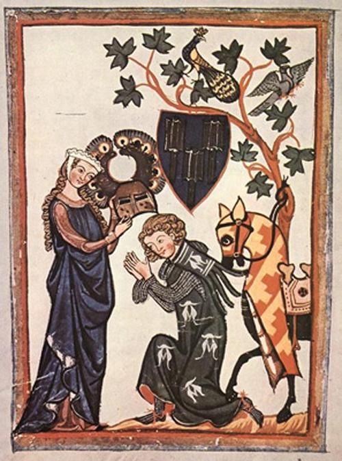 chevalier-et-dame-aux-oiseaux-enluminure-xive-siecle-2