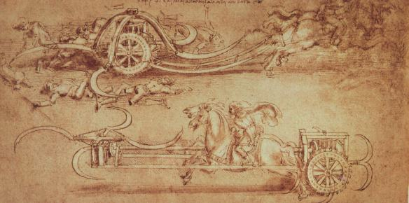 Leonard de Vinci - char a faux
