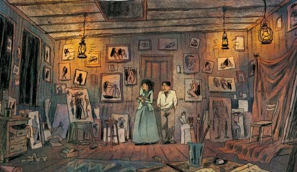 pablo Fernande dans son atelier
