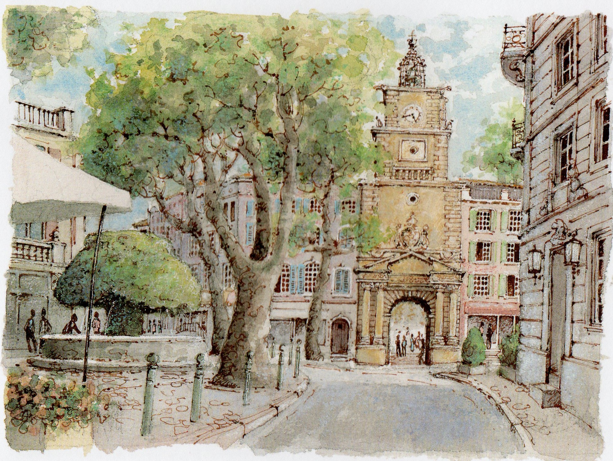 La provence de village en village th lectures et macarons for Porte de l horloge salon de provence
