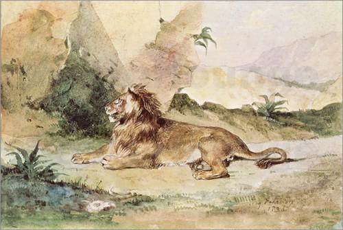 eugene-delacroix- lion