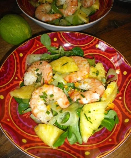 Salade ananas gambas 2