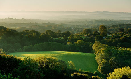 View from Shoulder of Mutton Hill in Ashford Hangers near Petersfield, Hampshire