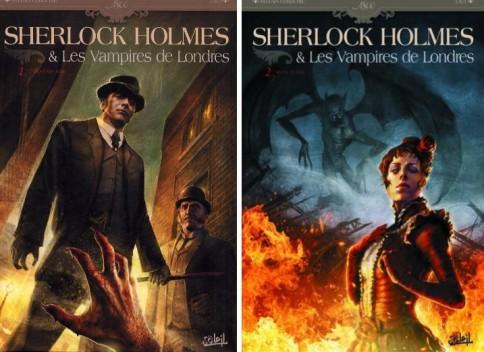 Sherlock et les vampires 1 et 2 bd