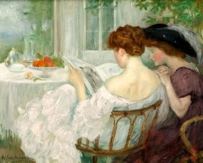 caro-delvaille-henry-women-reading-1910-1911