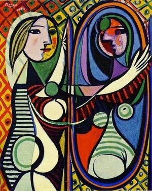 picasso femme au miroir