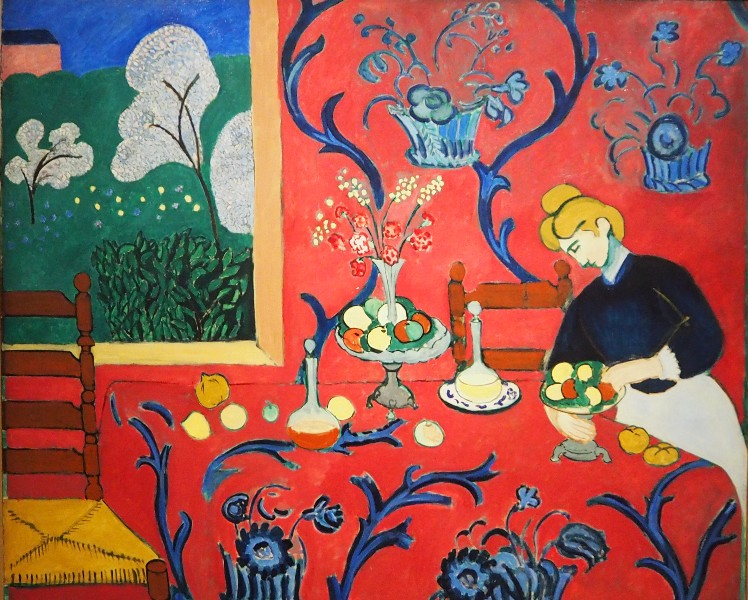 Collection chtchoukine th lectures et macarons for Interieur rouge matisse